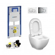 Geberit UP320, Sigma  Bediening, Bien Harmony WC Set, Zonder Rand, Rimless, Rimfree