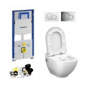 Geberit UP320, Sigma Bediening, Bien Harmony Douche WC met Bidet, Zonder Rand, Rimless, Rimfree